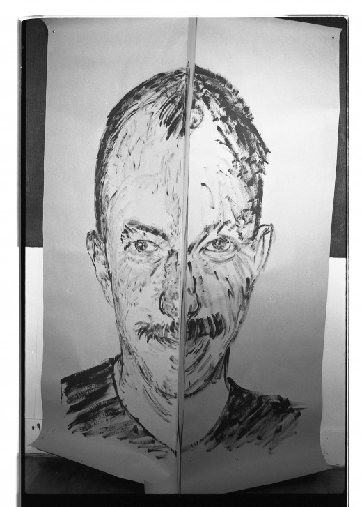 Martin Bartlett portrait by Ken Dollar, full face.