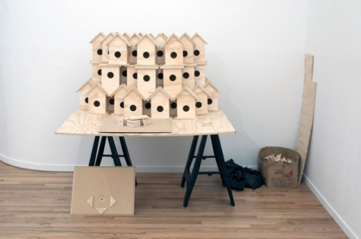Florin Bobu, 63 Real Birdhouses, 2011. mixed media Photograph by Kevin Schmidt