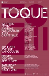 Go to TOQUE 2013: Western Front Annual Fundraiser and Craft Sale