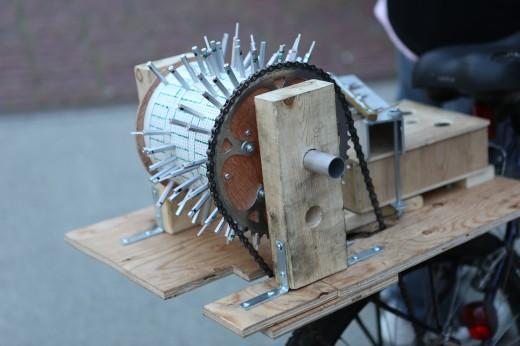 Bicycle-driven organ