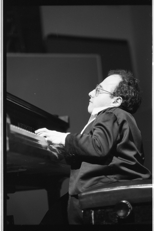 Michel Petrucciani performs with his trio as part of the Western Front Piano Festival, 1985.