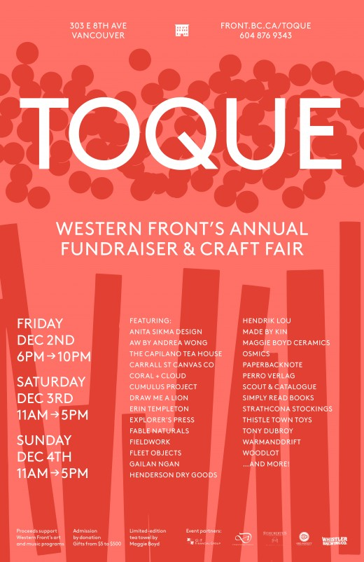Western Front TOQUE 2016 poster