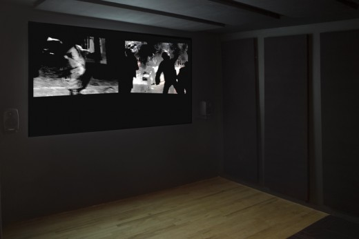 """Lis Rhodes, """"Dissonance and Disturbance"""", installation view, New Ways of Having, Western Front, 2016. Photo courtesy of Maegan Hill Carroll."""