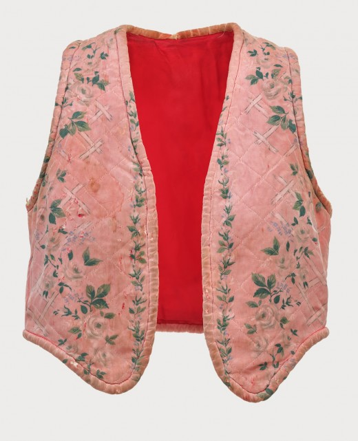 Kate Craig, Pink Vest created and worn for Young Adults (1977). Photo: Rachel Topham Photography. Costume Support: Ken Labun.