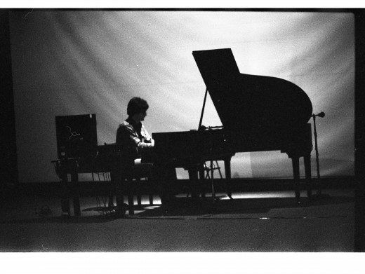 "John Celona performing ""Player Piano II"", 1981"