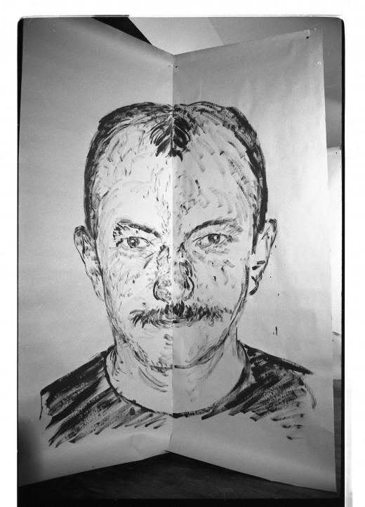 Martin Bartlett portrait by Ken Dollar, just 'left' version of face.