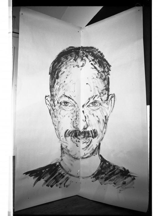 Martin Bartlett portrait by Ken Dollar, just 'right' version of face.