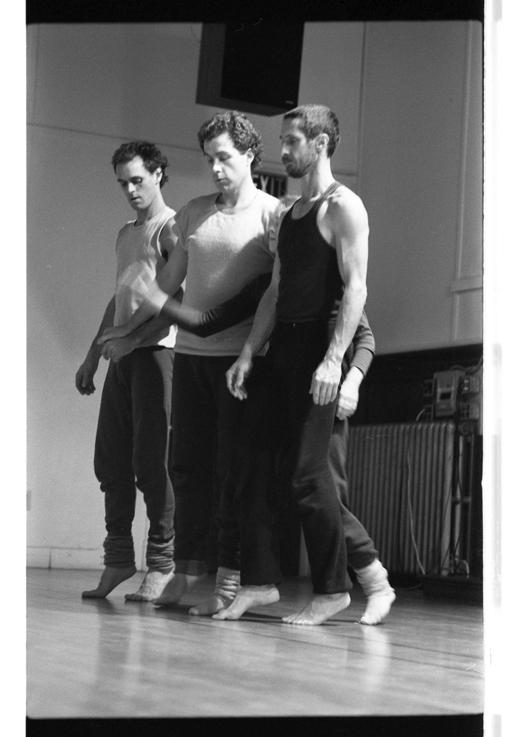 Peter Bingham, Peter Ryan, Helen Clarke and Steve Paxton, 1983