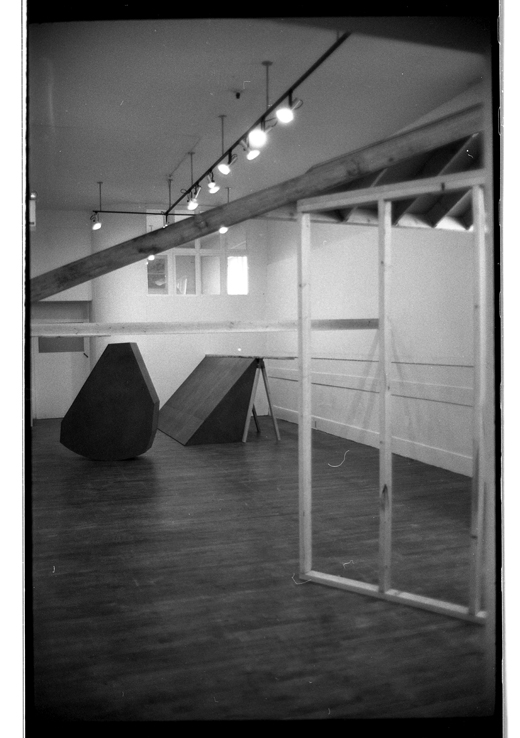 """Front Slopers' installed in the Western Front Gallery, Bill Burns, 1983"