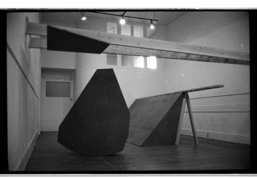 """""""Front Slopers' installed in the Western Front Gallery, Bill Burns, 1983"""
