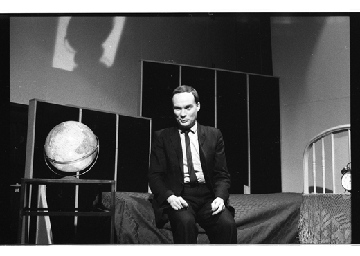 Andrew Paterson, performing Passports of Love, 1984.