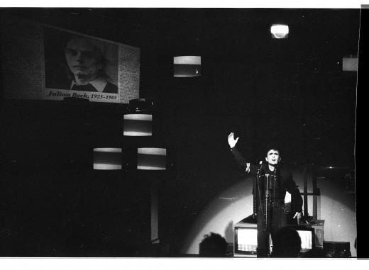 Istvan Kantor performing as Monty Cantsin in Bagdata, 1986