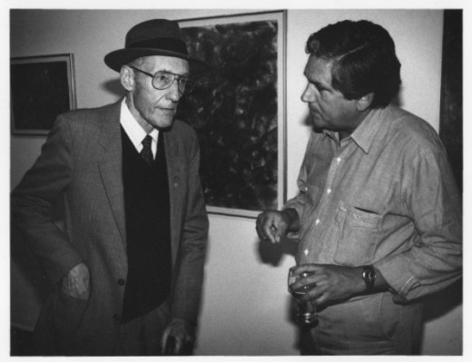 William S. Burroughs and Eric Metcalfe in the gallery