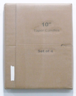 Lee Kit, Taper Candles, 2011. Acrylic, heat-melt glue and inkjet ink on cardboard. Image courtesy of the artist