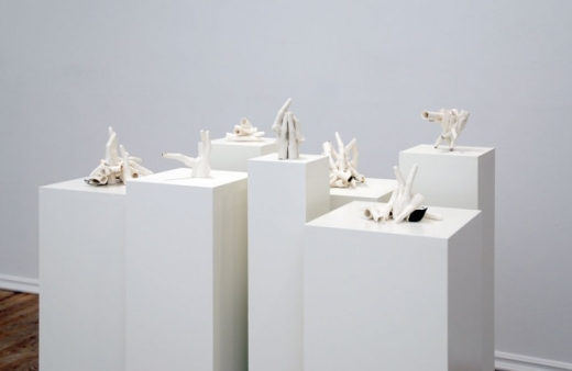 Elizabeth Zvonar, installation view, 2009. ceramic, glazing