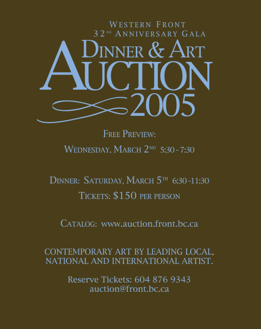 Auction invitation