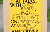 Go to Three Evenings with Chris Kraus