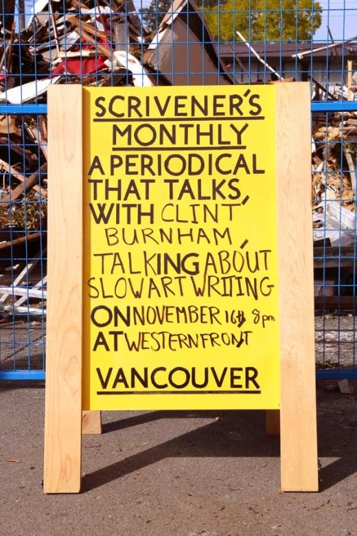 Scrivener's Monthly, 2012