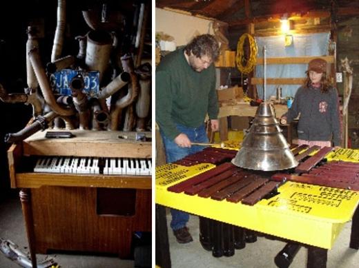 35 Car Horn Salute : Quadrabalarimbamaphone, 2008. Erin Leigh Pasternak : Brad Muirhead, Martin Fisk