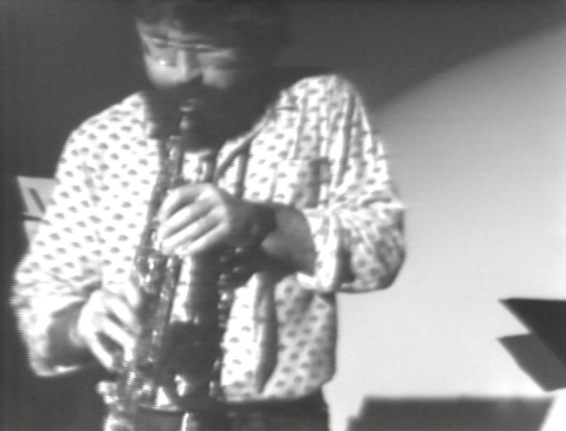 Evan Parker 1978, Photo by Kate Craig.