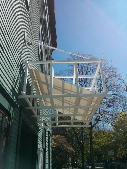 Completed awning.