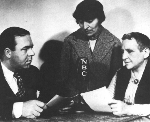 (left to right) William Lundell, Alice Toklas, Gertrude Stein. Image courtesy of the Beinecke Library, Yale University