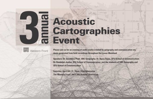 3rd Annual Acoustic Cartography