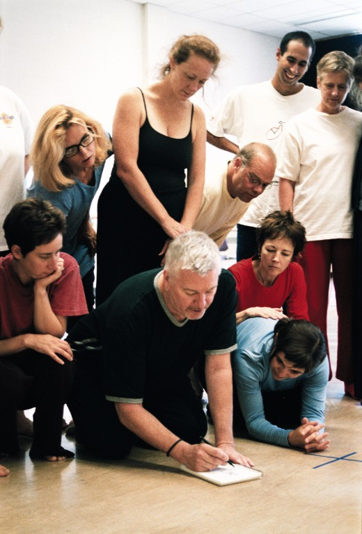 Richard Armstrong teaching at the Banff Centre. Photo by Don Lee.