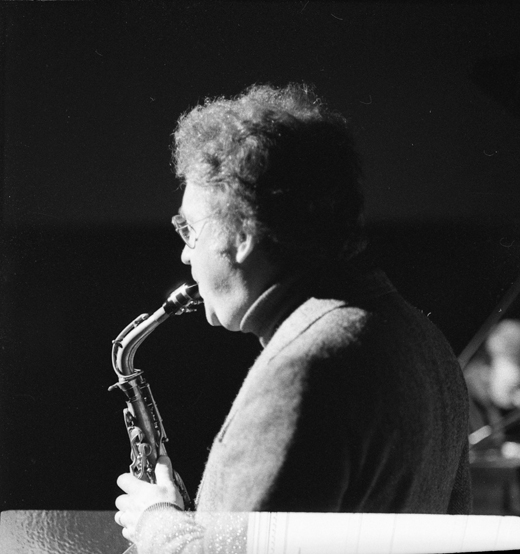 Lee Konitz on alto saxophone, 1979