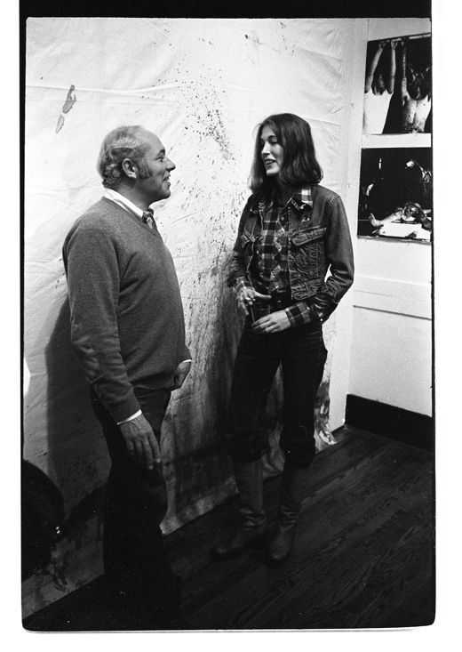 "Henry Greenhow, Monica Holden-Lawrence at ""Documents from the Theatre of the Actual"", 1978"
