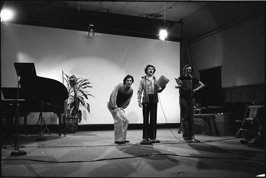 "Michael Dean, Steven Smith, Steve McCaffery, ""Cabaret Voltaire"", 1978"