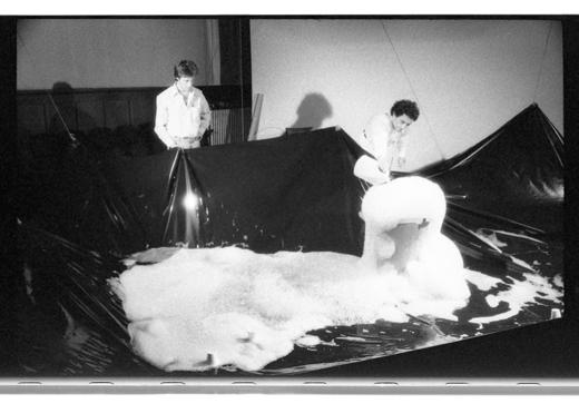 "Hank Bull, Alzek Misheff, ""Blowing Bubbles"", 1979"