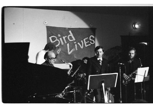 "Fraser MacPherson, Tony Clitherol, George Ursan, Donne Clarke, Jack Stafford, ""Charles Parker Memorial Jazz Breakfast"", 1975"