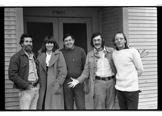 Allan Kaprow, Jo-Anne Birnie Danzker, Michael Morris, Steve McCaffery, Robert Filliou, 1977