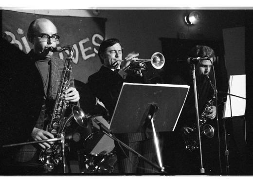 "Fraser MacPherson, Donne Clarke, Jack Stafford, ""Charles Parker Memorial Jazz Breakfast"", 1975"