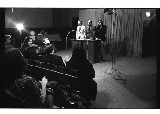 """General Idea, """"Press Conference"""", 1977"""