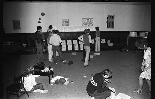 "Workshop participants, ""Hotel for Now"", 1975"