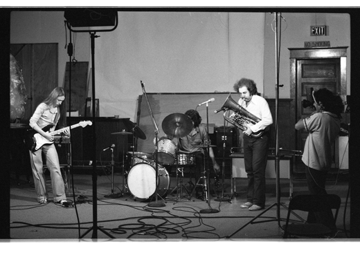 "Bob Bell, Gregg Simpson, Ralph Eppel, ""New Orchestra Workshop"", 1981"