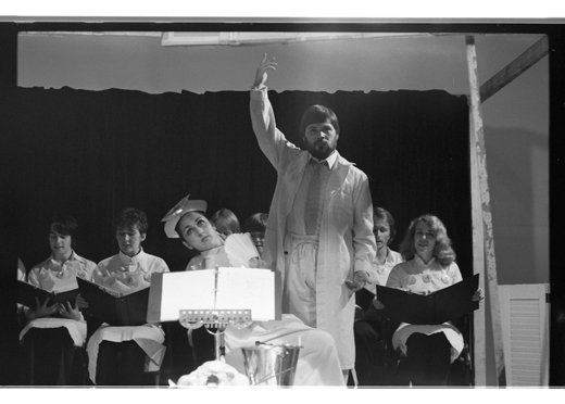 "Unidentified, Tom Graff, accompanying choir, ""Tom's Diary, An Art Convention"", 1982"