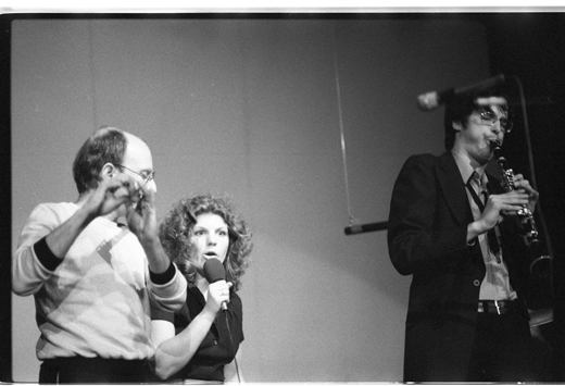 "Don Druick, Marilyn Boyle[?], Paul Cram, ""New Orchestra Workshop"", 1981"