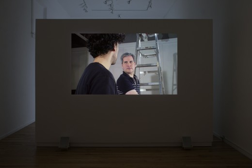 Barry Doupé, Life and People (installation view), 22 min, HD video, 2014. Photo by Maegan-Hill-Carroll.