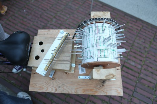 Bicycle-driven organ