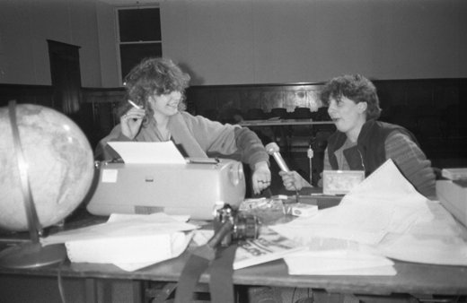 "Doris Buttignol and Sylvie Hebéard, ""La Plissure du Texte,"" 1983"