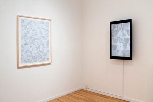 "Alma Alloro, ""10 Seconds (Quilt Animation)"", 2014. Pen on graph paper, animated GIF, dimensions variable. Photo by Maegan Hill-Carroll."