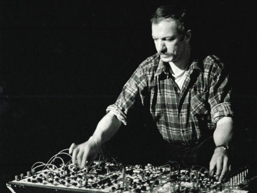 Martin Bartlett with the Black Box Synthesizer. Image is from the Western Front Archives.