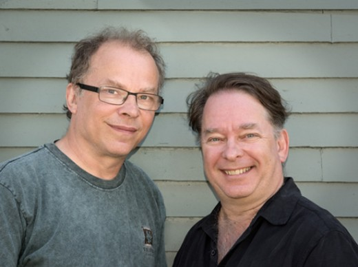 "(Left to Right) Composers and long-time collaborators Doug Blackley and Andrew Czink make up a duo called ""Bent."" Photo courtesy of the artists."
