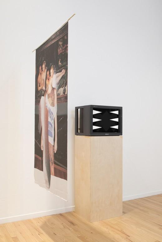 Annie MacDonell, Elizabeth Zvonar, Cut (installation view), Western Front, 2015. Photo courtesy of Maegan Hill-Carroll.