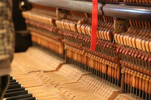 Inside of Andrew Wedman's Bass Piano, Photo by Ekaterina Usmanova