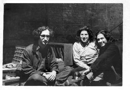 Musica Elettronica Viva circa late '60's (L to R) Frederic Rzewski, Richard Teitelbaum, Alvin Curran.