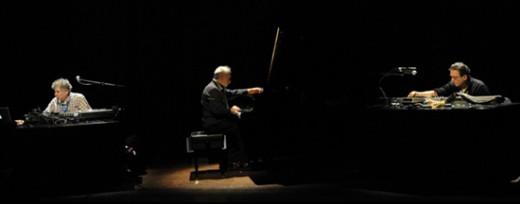 Musica Elletronica Viva (L to R) Richard Teitelbaum, Frederic Rzewski, and Alvin Curran.